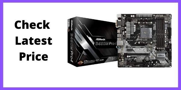 ASRock B450M PRO4 AM4 ATX AMD Motherboard