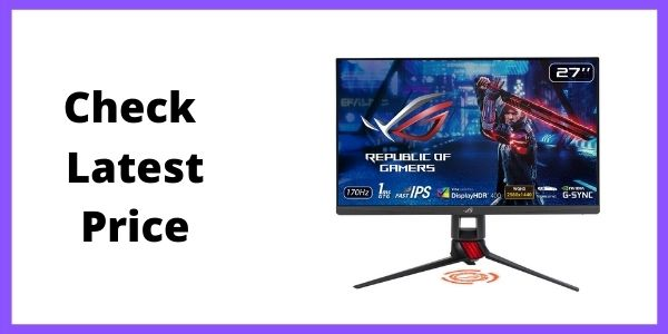 ASUS ROG Strix XG279Q 27inch 1440P HDR Monitor (Best 1440P Gaming Monitor for RTX 3070)