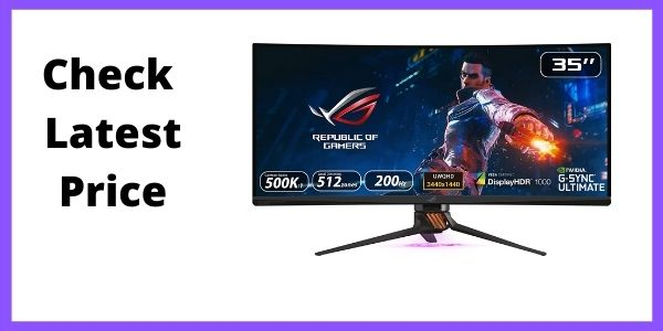 Asus Rog Swift PG35VQ 35inch Ultrawide Gaming Monitor (Best Ultrawide Monitor for RTX 3070)